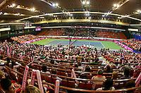 Ana Jovanovic vs Aleksandra Wozniak Fed Cup Serbia vs Canada, World group II, first round, Novi Sad, Serbia, SPENS Sports Center, Sunday, February 06, 2011. (photo: Srdjan Stevanovic)(credit image & photo: Pedja Milosavljevic / +381 64 1260 959 / thepedja@gmail.com )