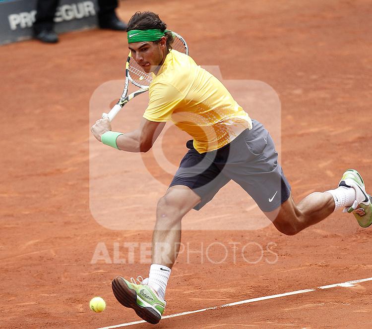 Spain's Rafael Nadal during Mutua Madrilena Tennis Open on May 6, 2011...Photo: Cesar Cebolla / ALFAQUI