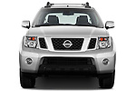 Straight front view of a 2010 Nissan Navara LE 4 door Pick-Up Truck