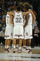 21 December 2005: Mitch Johnson, Jason Haas, Anthony Goods and Peter Prowitt during the Stanford Cardinal's 58-34 win against the Princeton Tigers at the Pete Newell Challenge at the Oakland Coliseum in Oakland, CA.