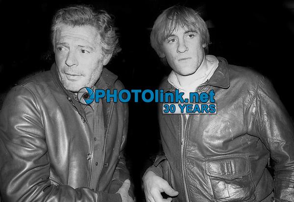 1978 FILE PHOTO<br /> New York City<br /> Marcello Mastroianni Gerard Depardieu<br /> at Studio 54<br /> Photo by Adam Scull-PHOTOlink.net