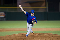 AZL Cubs relief pitcher Brendan King (55) delivers a pitch to the plate against the AZL Giants on September 5, 2017 at Scottsdale Stadium in Scottsdale, Arizona. AZL Cubs defeated the AZL Giants 10-4 to take a 1-0 lead in the Arizona League Championship Series. (Zachary Lucy/Four Seam Images)