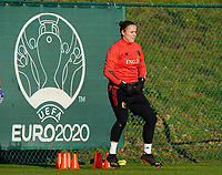 20200911 - TUBIZE , Belgium : Goalkeeper Justien Odeurs pictured during the training session of the Belgian Women's National Team, Red Flames ahead of the Women's Euro Qualifier match against Switzerland, on the 28th of November 2020 at Proximus Basecamp. PHOTO: SEVIL OKTEM   SPORTPIX.BE