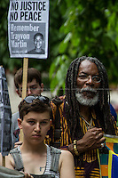 """16.07.2013 - """"Justice For Trayvon Martin"""" - Demo outside the US Embassy"""