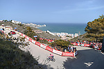 Magnus Cort Nielsen (DEN) EF Education-Nippo attacks from the breakaway on the final climb during Stage 6 of La Vuelta d'Espana 2021, running 158.3km from Requena to Alto de la Montaña Cullera, Spain. 19th August 2021.    <br /> Picture: Cxcling   Cyclefile<br /> <br /> All photos usage must carry mandatory copyright credit (© Cyclefile   Cxcling)