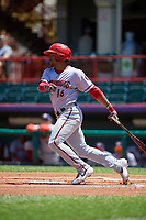 Harrisburg Senators Adrian Sanchez (16) at bat during an Eastern League game against the Erie SeaWolves on June 30, 2019 at UPMC Park in Erie, Pennsylvania.  Erie defeated Harrisburg 4-2.  (Mike Janes/Four Seam Images)