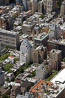 aerial photograph upper east side, Manhattan, New York City