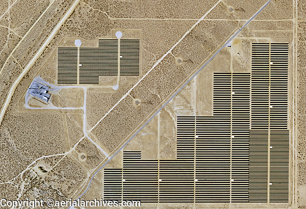 aerial photo map of Solar Star, Rosamond, Kern County, California