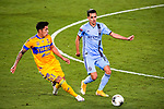 Defender Carlos Salcedo of Tigres UANL (MEX) against Jesus Medina of New York City FC (USA) during their Scotiabank Concacaf Champions League Quarter Finals match at the Orlando's Exploria Stadium on 15 December 2020, in Florida. Photo by Victor Fraile / Power Sport Images
