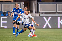 SAN JOSE, CA - MAY 01: Joseph Mora #28 of DC United controls the ball during a game between San Jose Earthquakes and D.C. United at PayPal Park on May 01, 2021 in San Jose, California.