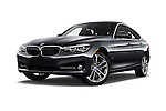 Stock pictures of low aggressive front three quarter view of 2018 BMW 3-Series 330i-Gran-Turismo 5 Door Hatchback Low Aggressive