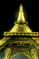 Eiffel Tower, Paris, France, Europe, towering, evening, illuminated