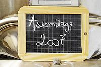 tank door sign on tank assemblage 2007 ch gd barrail lamarzelle figeac saint emilion bordeaux france