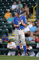 St. Lucie Mets second baseman Jeff McNeil (1) at bat during a game against the Bradenton Marauders on April 11, 2015 at McKechnie Field in Bradenton, Florida.  St. Lucie defeated Bradenton 3-2.  (Mike Janes/Four Seam Images)