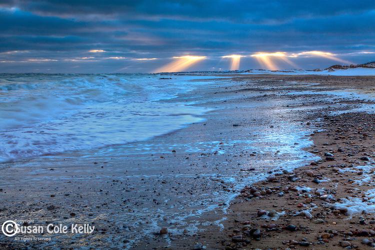 Dramatic clouds over Town Neck Beach in Sandwich, Cape Cod, MA, USA