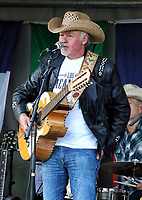 Los Pacaminos - a band formed by Paul Young in 1993 - played a rare outdoor gig since lockdown, which has seen all music festivals cancelled and only a handful of entertainment events going ahead. The gig was held in Hatfield Park, on the estate of the stately Hatfield House with the audience following all social distancing guidelines. Hatfield, Herts, UK on Sunday 23rd August 2020<br /> <br /> Photo by Keith Mayhew
