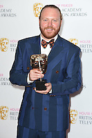Leigh Francis<br /> in the winners room at the 2016 BAFTA TV Awards, Royal Festival Hall, London<br /> <br /> <br /> ©Ash Knotek  D3115 8/05/2016