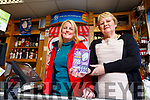 Jane and Kathleen Collins celebrating in Kathleen's Foodstore in Abbeyfeale on Tuesday having sold  a €50,000 winning Lotto scratch card.