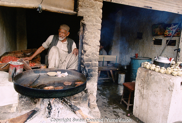 Afghan restaurant next to a refugee camp in Peshawar, Pakistan