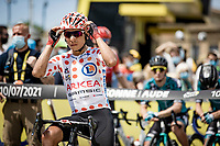 polka dot jersey / KOM leader Nairo Quintana (COL/Arkea Samsic) at the stage start in Carcassonne<br /> <br /> Stage 14 from Carcassonne to Quillan (184km)<br /> 108th Tour de France 2021 (2.UWT)<br /> <br /> ©kramon