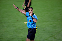 LOS ANGELES, CA - SEPTEMBER 02: Alex Chilowicz center referee during a game between San Jose Earthquakes and Los Angeles FC at Banc of California stadium on September 02, 2020 in Los Angeles, California.