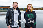Enjoying a stroll in the Tralee Bay Wetlands on Monday, l to r: Aaron Downey and Hannah Meyler.