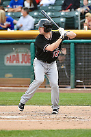 Mike Baxter (37) of the Albuquerque Isotopes at bat against the Salt Lake Bees at Smith's Ballpark on April 21, 2014 in Salt Lake City, Utah.  (Stephen Smith/Four Seam Images)