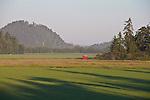 Skagit Valley, Dodge Valley, farmland, farms, sunrise, Skagit County, Washington State,
