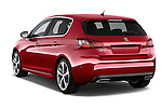 Car pictures of rear three quarter view of 2015 Peugeot 308 GT 5 Door Hatchback Angular Rear