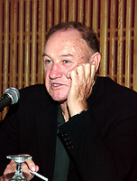 Montreal, August 26th, 2000<br /> <br /> American actors Gene Hackman and Morgan Freeman, currently in Montreal, Canada for the movie `` Under Suspicion `` by Stephen Hopkins answer question during a press conference at the 24th World Film Festival in Montreal, Canada.<br /> <br /> Photo by Pierre Roussel /  Images Distribution
