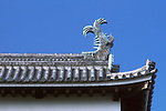Japan, Shimane, Matsue Matsue Castle, Roof Ornament