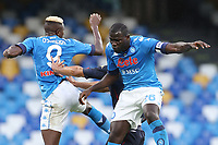 Victor Osimhen of SSC Napoli and Kalidou Koulibaly during the Serie A football match between SSC Napoli and Genoa CFC at stadio San Paolo in Napoli (Italy), September 27, 2020. <br /> Photo Cesare Purini / Insidefoto