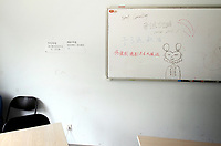 CHINA. Beijing. Inside a classroom at Aoji, an organisation which assists Chinese students in language training and placing them in overseas universities throughout the world. 2010
