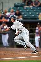 Tri-City ValleyCats outfielder Johnny Sewald (33) at bat during a game against the Aberdeen Ironbirds on August 6, 2015 at Ripken Stadium in Aberdeen, Maryland.  Tri-City defeated Aberdeen 5-0 in a combined no-hitter.  (Mike Janes/Four Seam Images)