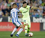 CD Leganes' Oscar Rodriguez Arnaiz (l) and FC Barcelona's Leo Messi during La Liga match. September 26,2018. (ALTERPHOTOS/Acero)