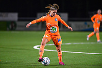 Lyndsey Van Belle (14) of AA Gent pictured during a female soccer game between  Racing Genk Ladies and AA Gent Ladies on the eleventh matchday of the 2020 - 2021 season of Belgian Scooore Womens Super League , friday 22 th of January 2021  in Genk , Belgium . PHOTO SPORTPIX.BE   SPP   DAVID CATRY