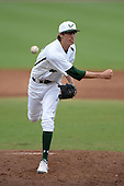 South Florida Bulls pitcher Jimmy Herget (20) during a game against the Florida State Seminoles on March 5, 2014 at Red McEwen Field in Tampa, Florida.  Florida State defeated South Florida 4-1.  (Copyright Mike Janes Photography)