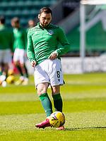 1st May 2021; Easter Road, Edinburgh, Scotland; Scottish Premiership Football, Hibernian versus St Johnstone;  Drey Wright of Hibernian makes the starting line today