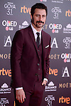 Hugo Silva attends to the Red Carpet of the Goya Awards 2017 at Madrid Marriott Auditorium Hotel in Madrid, Spain. February 04, 2017. (ALTERPHOTOS/BorjaB.Hojas)