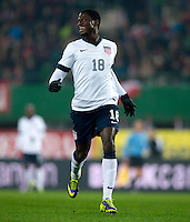 VIENNA, Austria - November 19, 2013: Eddie Johnson during a 0-1 loss to host Austria during the international friendly match between Austria and the USA at Ernst-Happel-Stadium.