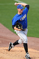 Omaha Storm Chasers pitcher Mike Montgomery #22 throws a bullpen session before a game against the Nashville Sounds at Greer Stadium on April 25, 2011 in Nashville, Tennessee.  Omaha defeated Nashville 2-1.  Photo By Mike Janes/Four Seam Images