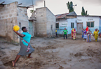 AWright_Tanz_004296.jpg<br /> Tanzania<br /> At the KilaKala Girls Club, an ELA club in Dar Es Salaam, the group plays a local game called Rede Ball. Games like these help girls build confidence, socialize and stay active.