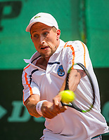 The Hague, Netherlands, 11 June, 2017, Tennis, Play-Offs Competition, Maxime Authon, Leimonias<br /> Photo: Henk Koster/tennisimages.com