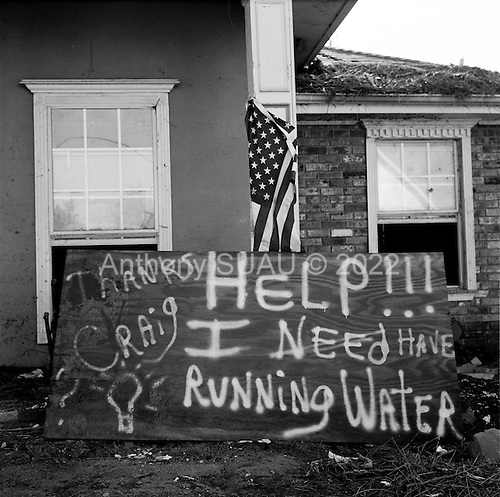 New Orleans, Louisiana.USA.December 3, 2005 ..Scenes in St. Bernard's Paris as it recovers after hurricane Katrina struck and the levees broke flooding the district....