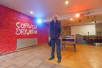 Pictured: Clwb y Bont treasurer Graham Davies in one of the venue's rooms that was severely affected by the flood in Pontypridd. Wednesday 04 March 2020<br /> Re: Revisiting the flood affected areas in Pontypridd, Wales, UK.