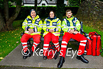Red Cross volunteers at the Anseo open air concert in Pearse Park on Saturday, l to r: John McKiernan, Trish Nolan and Darren McGovern.