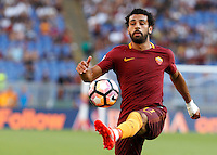 Calcio, Serie A: Roma vs Udinese. Roma, stadio Olimpico, 20 agosto 2016.<br /> Roma's Mohamed Salah controls the ball during the Italian Serie A football match between Roma and Udinese at Rome's Olympic stadium, 20 August 2016. Roma won 4-0.<br /> UPDATE IMAGES PRESS/Riccardo De Luca