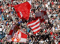 Fudbal, Jelen super liga, sezona 2010/11.Derby, Derbi.Crvena Zvezda Vs. Partizan.Delije, navijaci, zastave, fans, supporters, flags.Belgrade, 23.10.2010..foto: Srdjan Stevanovic/Starsportphoto ©