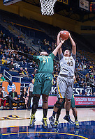 Justine Hartman of California rebounds the ball against Oregon at Haas Pavilion in Berkeley, California on January 5th, 2014. California defeated Oregon