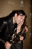 Montreal (Qc) CANADA - October 28 2007-<br /> Nicola Ciccone, winner, Male interpret of the year (<br /> InterprËte masculin de l'annÈe),<br /> Isabelle Boulay , winner female singer and show of the year<br />  (InterprËte fÈminine de l'annÈe et Spectacle de l'annÈe - InterprËte)<br /> 2007 ADISQ Gala held at Saint-Denis Theater in Montreal<br /> <br />  Photo (c) 2007 Pierre Roussel- Images Distribution